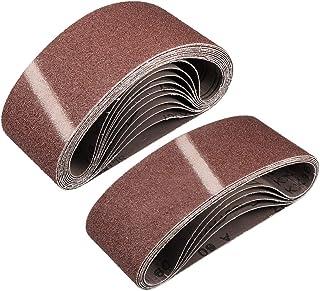 7,6 cm x 45,7 cm 60 aluminiumoxid slipbälte sandpappersbälten för bärbar slipmaskin träfinish metall gipsvägg polering sli...