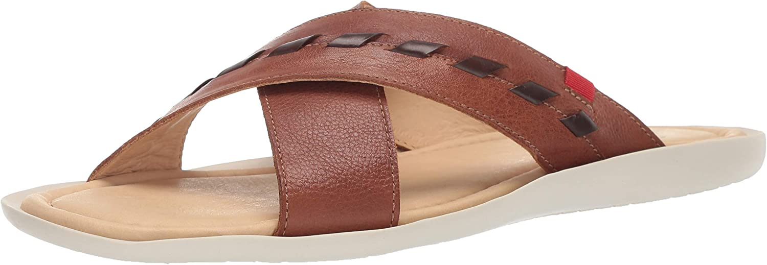 MARC JOSEPH NEW YORK Mens Leather Made in Brazil Hampton Fashion Comfort Sandal