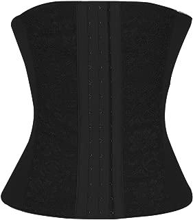 4THSEASON Waist Trainer for Weight Loss-Women Trimmer Slimmer Belt Latex Corset Cincher Body Shaper