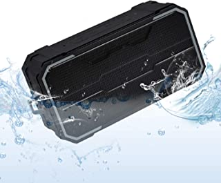 Zosam Portable Bluetooth V4.2 Wireless Speaker HiFi 10W Driver IPX6 Waterproof Outdoor Stereo Speaker with Built-in Mic an...