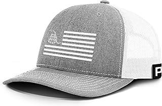 Don't Tread On Me White USA Flag Back Mesh Hat DTOM Gadsden Flag Cap Snake