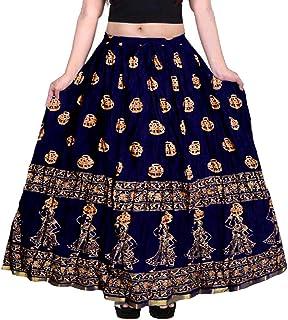 jwf Women's Cotton Long Skirt (SSK_315_Multicolor_)