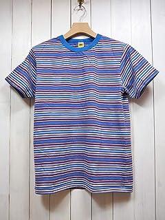 VELVA SHEEN(べルバシーン) LATE 90's DEADSTOCK STRIPE TEE デッドストックボーダーTシャツ #161912 (ブルー×レッド) 半袖/メンズ/カジュアル/USA製/青×赤