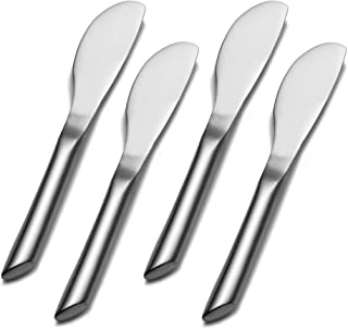 Towle Living Wave Stainless Steel Cheese Spreader, Set of 4