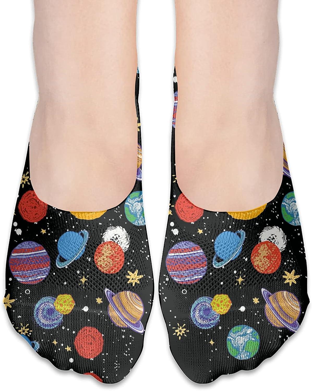 No Show Socks Women Men For Galaxy Sky Star Earth Flats Cotton Ultra Low Cut Liner Socks Non Slip