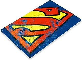 "Tinworld TIN Sign ""Superman Logo"" Comic Super Hero Metal Decor Store Shop Cave A881"