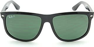 RB4147 601/58 Shiny Black Frame /Crystal Green Polarized Lens 60mm