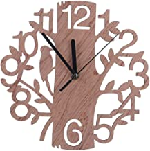 Wooden Tree Shape Clock Wall Simple Wooden clock