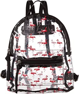 All Over Flamingo Backpack
