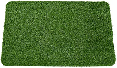 Cabilock Artificial Grass Mat Anti Skid Turf Entrance Carpet Rug Bedroom Foot Mat Pet Grass Decor for Home Garden Balcony Bed