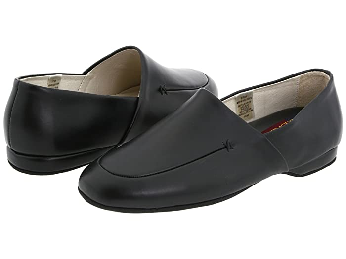 Men's 1920s Shoes History and Buying Guide L.B. Evans Duke Opera Black Leather Mens Slippers $49.95 AT vintagedancer.com