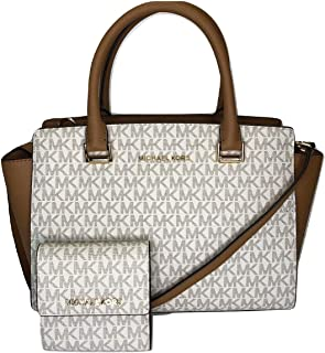 b2d14e0fdcd510 MICHAEL Michael Kors Selma MD TZ Satchel bundled with Michael Kors Jet Set  Travel SM Card