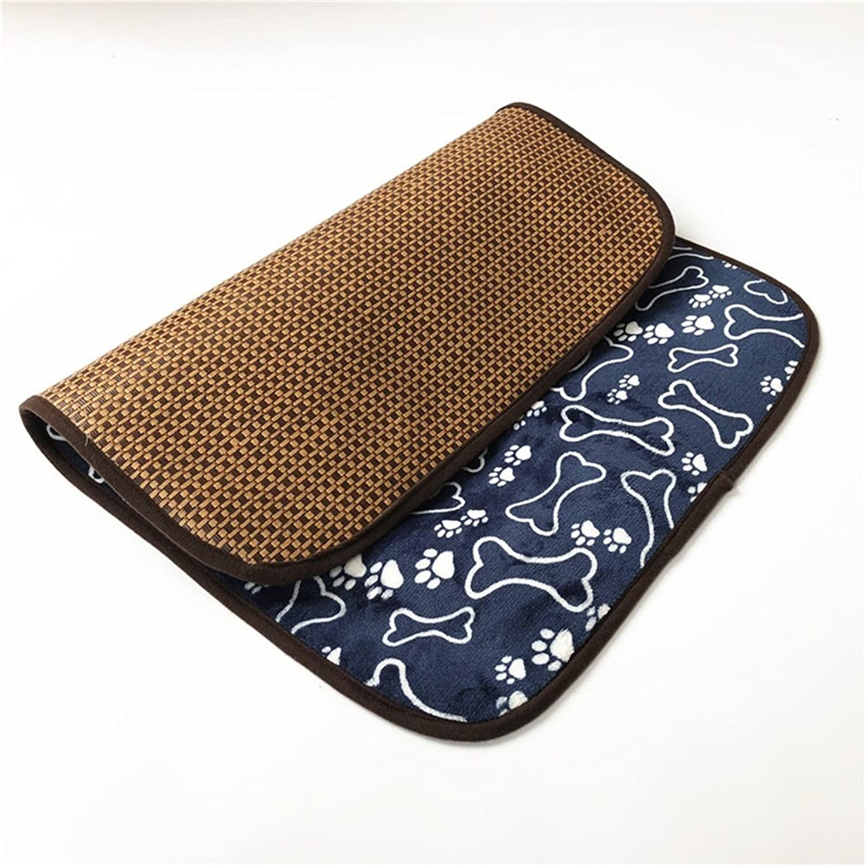 Perfect Pet Bed Supplie Pet Cool Pad Fiber Pet Sofa Bed Ice Pad Pet Mat Big Dog Mat Summer Pet Cool Pad (Size  51  37cm)