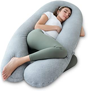 NiDream Bedding Pregnancy Pillow, Full Body Pregnancy Pillow, B Shaped Pregnancy Pillow, Cooling Pregnancy Pillow with Jer...