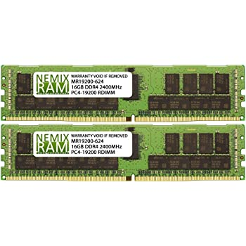 DDR4-2133MHz PC4-17000 ECC RDIMM 1Rx4 1.2V Registered Memory for Server//Workstation 8x8GB 64GB