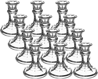 Candlesticks, Clear, 12Pack