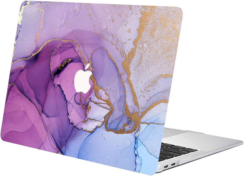 Goldener Marmor ACJYX MacBook Pro 13 Zoll H/ülle 2020 2019 2018 2017 2016 Release A2289 A2251 A2159 A1989 A1708 A1706 Glatte Kunststoffschutzh/ülle Mit Muster Laptop Abdeckung F/ür MacBook Pro 13