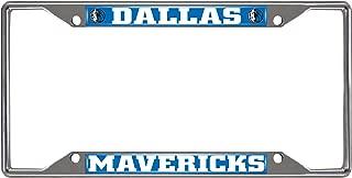 FANMATS NBA Dallas Mavericks Chrome License Plate Frame