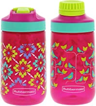 Rubbermaid Kids Water Bottle Sip, Chug - Leak-Proof Reusable Container - Help Keep Your Kids Hydrated - BPA-Free - Equippe...