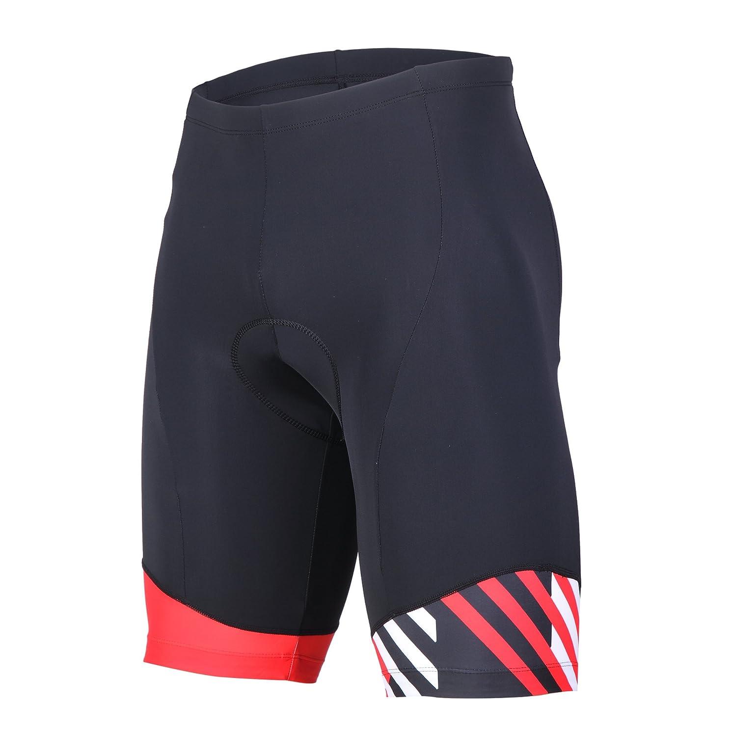 ANIVIVO Mens Cycling Shorts Padded &Bicycle Riding Shorts with Anti-Slip Belt &Road Bike Shorts Comfort Tight Biking Shorts for Men