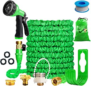 """Running Bulls 100feet Expandable Garden Hose, Expanding hose pipes With Mixer Tap Connector/Hose Hanger/Storage Bag/ 3/4"""" ..."""