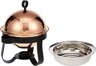 Raj Copper Food Warmer - 4 Pieces-MCD5008,Gold