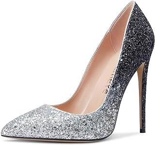 Castamere Scarpe col Tacco Donna Moda Punta Appuntito Tacco a Spillo 12CM High Heels