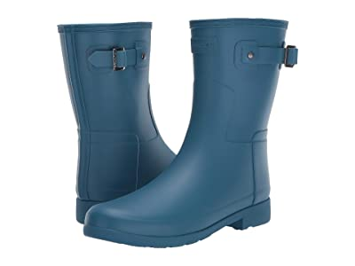 Hunter Original Refined Short Rain Boots (Rock Pool) Women