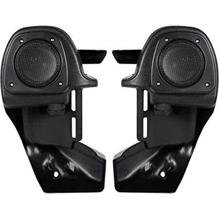 Advanblack Vivid//Glossy Black Lower Vented Fairings 6.5 Speaker Pods Fit for 1983-2016 Harley Touring Street Glide Electra Glide Road King US STOCK