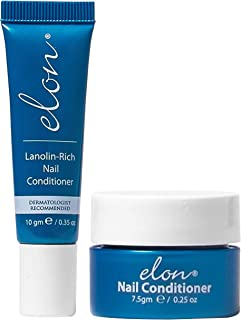 Elon Lanolin - Rich Nail Strengthener 10g Tube + 7.5g Jar | Nail Cuticle Conditioner Cream Repairs, Protects and Strengthens | Recommended by Dermatologists and Podiatrists
