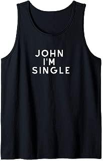 JOHN I'M SINGLE MAYER TOUR Tank Top