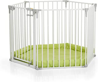 Hauck Baby Park 3-in-1 Convertible Playpen With Mat- White