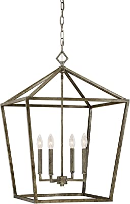 Millennium Lighting Millennium:Four 3254-AS 4-Light Pendant in Antique Silver, Pwt, Nckl, B/S, Slvr