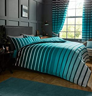 Gaveno Cavailia Luxurious Oscar Bed Set with Duvet Cover and Pillow Cases, Polyester-Cotton, Teal, Double