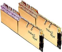 G.SKILL Trident Z Royal Series 16GB (2 x 8GB) 288-Pin RGB DDR4 3600 (PC4 28800) Desktop Memory F4-3600C16D-16GTRG