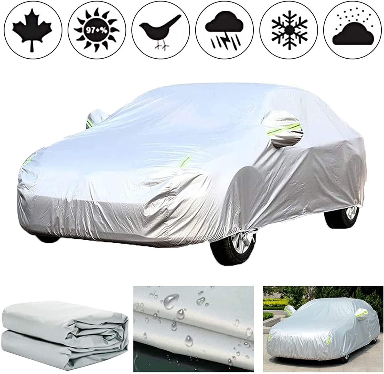 ADLIN All-Weather Car Protection A surprise price is realized Cover Compa We OFFer at cheap prices Full Outdoor