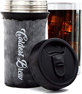 Coldest Brew Iced Coffee Maker - Make Hot Coffee Into Ice Coffee In Minutes Without Dilution