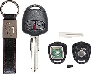 KASER Clé Télécommande Électronique 2 Boutons Compatible pour Mitsubishi Triton Pajero Outlander ASX Lancer Lame MIT8 (433...