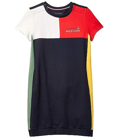 Tommy Hilfiger Adaptive Milan Multiblock Sweatshirt Dress (Little Kids/Big Kids) (Racing Red) Women