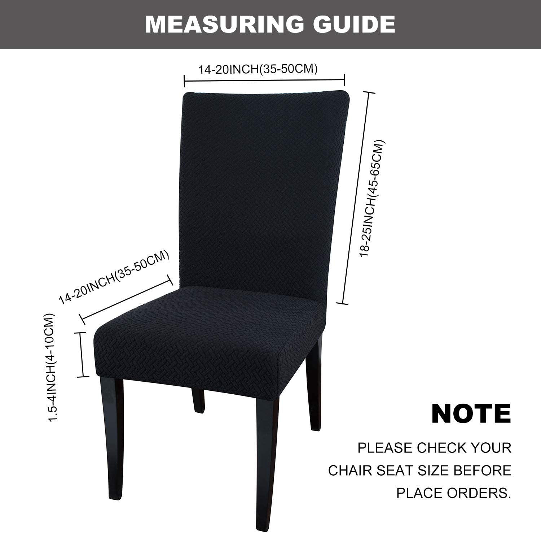 Negro Qishare Boda Ceremonia Paquete de 4 Fundas para sillas de Comedor Hotel Fundas para sillas de Comedor