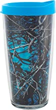 Undertow Insulated 16 Oz Clear Travel Tumbler Mug with Turquoise Lid