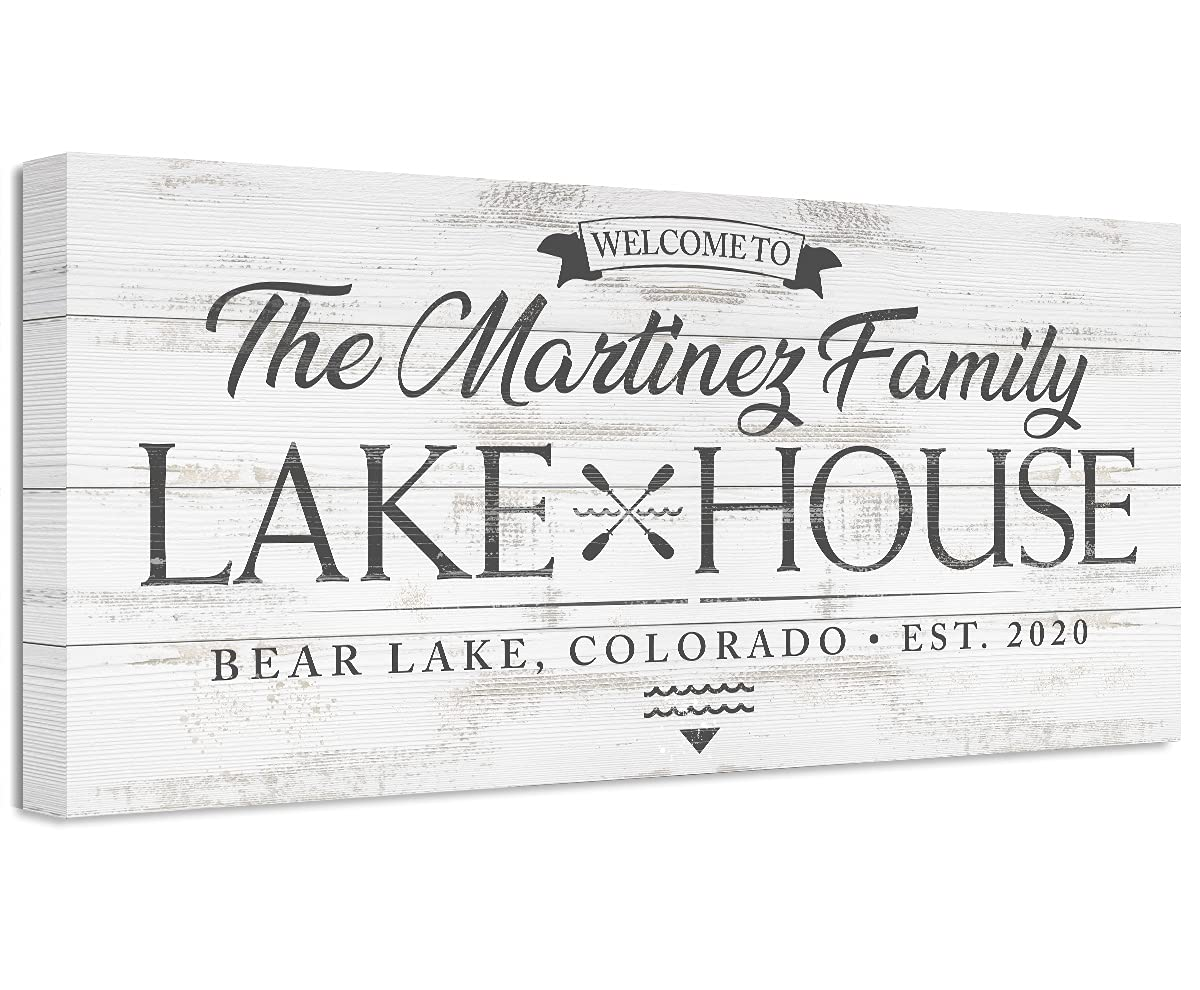 Personalized Family Name Lake House - Print Not Cheap bargain Printe Unframed OFFicial shop