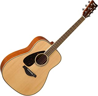 Yamaha FG820LNT LEFT-HANDED Solid Sitka Spruce Top Natural Folk Acoustic Guitar