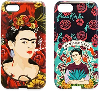 Ish Original Official Frida Kahlo Heart & Mi Mexico Lindo 2pcs Set Phone Case/Cover Slim Soft TPU Apple iPhone 8