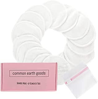 NEW 2019 Update - Reusable Bamboo Makeup Remover Pads with Elastic Band & Laundry Bag –