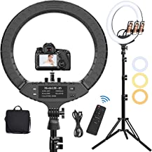18 Inch LED Ring Light with Tripod Stand & Phone Holder, Hatynud 2700K-6500K Dimmable LED Ringlight for Photography/Camera...