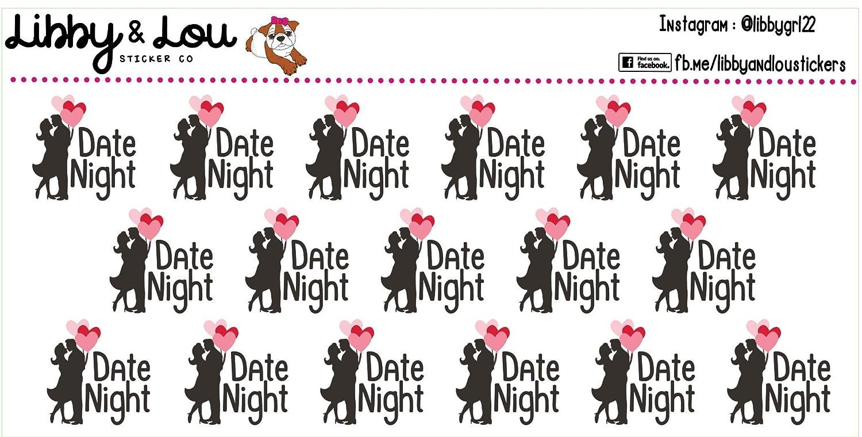 Date Night Planner Fees free Sticker Balloons Erin Award-winning store Cute Couple Condr