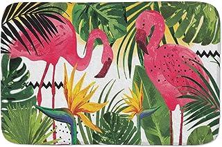 Watercolor Flamingo and Tropical Leaves Doormats Door Mat Entrance Mat Floor Mat Welcome Mats /Outdoor/Front Door/Bathroom...