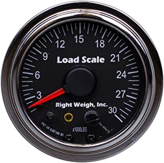 510-30-C Chrome Interior Analog Onboard Load Scale - For Single Axle Air Suspensions with One Height Control Valve - 7 Color LED