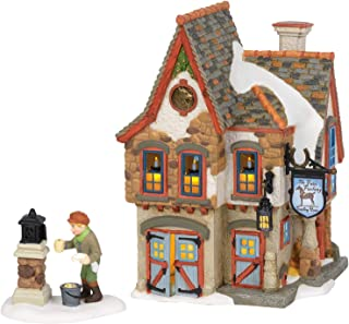 Department 56 Dickens Village Welcoming Christmas Coaching House Lit Building and Accessory, 7.36